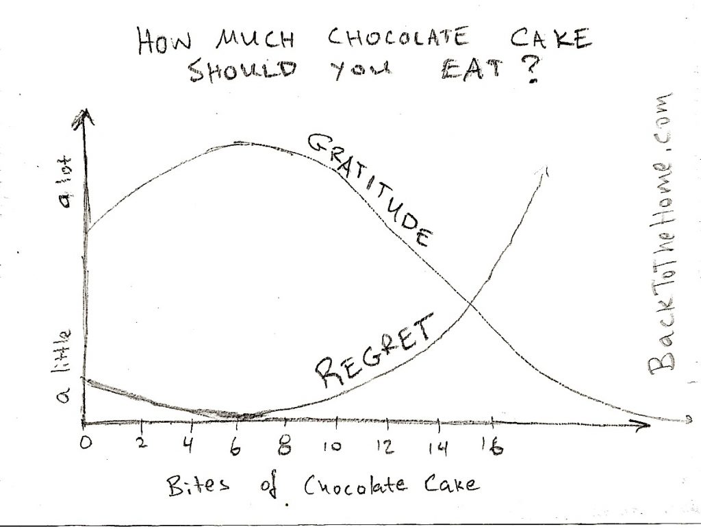 How much chocolate cake should you eat?
